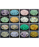 Wholesale Matte Frosted Natural Gemstone Round Loose Beads 4mm 6mm 8mm 1... - $1.51+