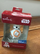 Hallmark Only at Walmart Stars Wars Orange & White Robot BB-8 w Santa Ha... - $11.29