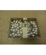 Designer Hanging Balls Decorative 1/2in Diameter Silver/Chrome Glass - $12.40