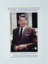 President Ronald Reagan Vintage 5x7 Photo The Heritage Foundation Card - $9.75