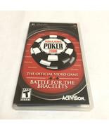 World Series of Poker 2008 Battle For The Bracelets Sony PSP Complete - $20.56