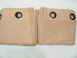 Pottery Barn Peyton Wheat Linen Blend 2-PC 96L Grommet Drapery Panel Set(s) - $69.00