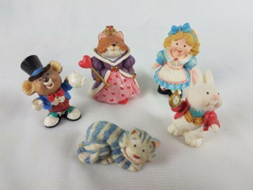Hallmark Merry Miniatures Alice in Wonderland 5 Piece Set Lot image 2