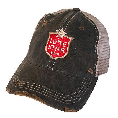 Lone Star Beer Vintage Mesh Hat Brown