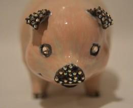 Jay Strongwater Enameled Swarovski Crystal Pig Figurine - $79.19