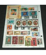 50 Lote Sellos Antigue 44 Varios, 6 Duplicado 1921-1980 Scott Catalog Valor - $27.69