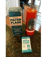 Aladdin's Microlene Water Filter Flask Thermos with Cup Original Box - 1... - $32.79