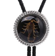 Agate Real Scorpion BOLO Tie Wedding Necklace Vintage Western Cowboy All... - $14.99