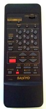 Genuine Sanyo Remote Control FXDA Cable VCR TV Tested Batteries Included - $9.48