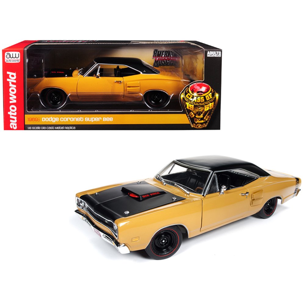 1969/5 Dodge Coronet Six Pack Super Bee Hardtop Butterscotch Orange with Black T