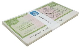 Zimbabwe 20,000 Dollars Cheque Amount Field X 50 Pieces, 2003, USED, Hal... - $119.99