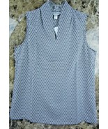 Christopher & Banks Soft B&W size Sm Classic pullover Sleeveless NWT ~ V... - $15.78