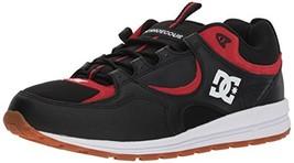 DC Men's Kalis Lite Skate Shoe, Black/Athletic Red, 10 D D US - $67.86