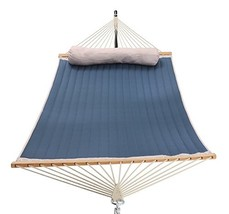 Patio Watcher 11 Feet Quilted Fabric Hammock with Pillow, Double Hammock... - $135.74