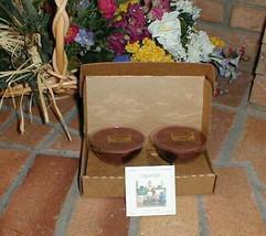 Longaberger Dessert Bowl Candles Macintosh Apple  Set Of 8 New In Origin... - $21.73