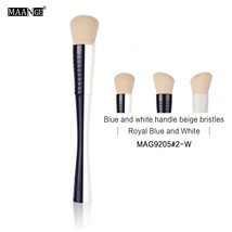 bule combine white MAANGE 1Pcs Angled Top Foundation Contour Makeup Brush A - $5.00