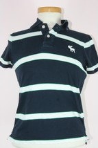 Abercrombie New York Striped Collard Musle Shirt Short Sleeve Sz L - $7.90