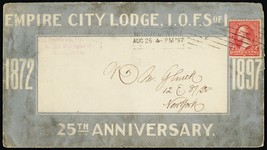 Empire City Lodge Fraternal Brooklyn, NY 1897 Advertising Cover - Stuart... - $75.00