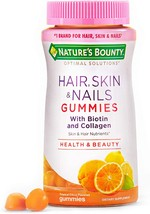 Nature's Bounty Hair, Skin & Nails with Biotin and Collagen, 80 Count, Orange - $11.10