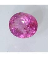 Rose Pink Spinel Faceted Oval 7.3 x 6.2 mm Sparkling Burma Gemstone 1.03... - $42.75