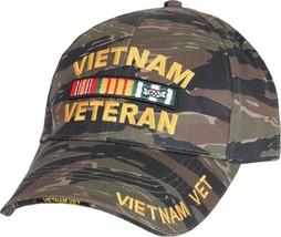 Tiger Stripe Camouflage Vietnam Veteran Military Adjustable Cap - $11.99
