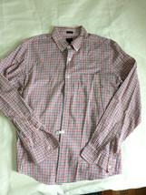 J.Crew Plaid shirt front buttons cotton Men Sz L Blue,red, white SLIM Worn Once - $16.82