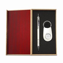 Silver-tone Engravable Watch Key Ring and Pen Gift Set - $21.78