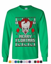 Merry Floatmas Parody Long Sleeve T-Shirt Xmas Clown It Ugly - $9.87+