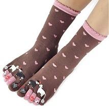 PANDA SUPERSTORE (Coffee Life) Autumn Winter Cotton Women's Five Toes Socks Midd