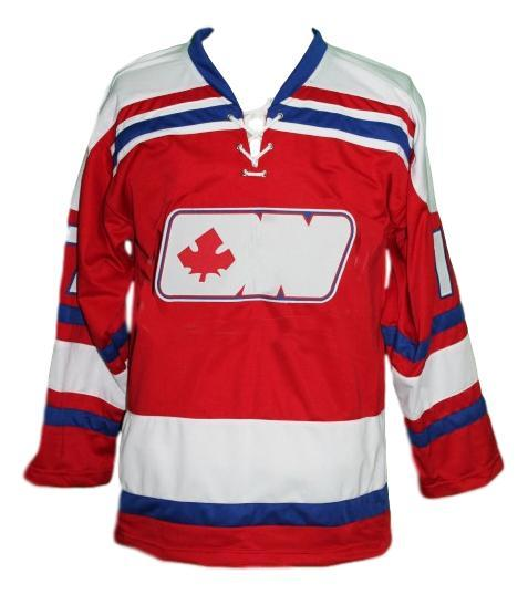 Martin  17 ottawa nationals retro hockey jersey red   1