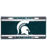 Michigan State Spartans Green and Anodized Embossed Metal License Plate ... - $6.95