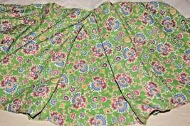 Ralph Lauren Queen Bedskirt Hampton Beach Club Green Pink Blue Paisley Floral Ec - $29.69