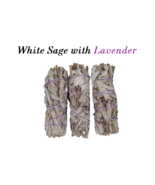 3 Sticks White Sage with Lavender Smudge 4''-5'' Long, Home & Energy Cle... - $14.48 CAD