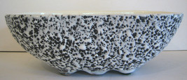 Kenwood Pottery Black & White Spatter Confetti 2114 USA Planter Excellant - $35.63
