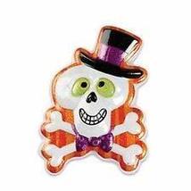 1 Skull Glitter Cake Cookie Topper Halloween Cupcake Designer Bake - $8.60