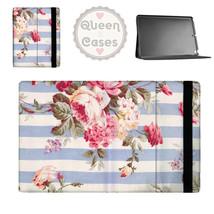 Antique Striped Floral Tablet Flip Case - $29.99+