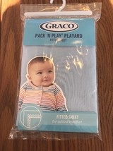 Graco Pack N Play Playard Quick Connect fitted sheet Light Blue Ships N 24h - $25.20