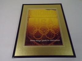 1984 Michelob Light Beer / Olympics Framed 11x14 ORIGINAL Advertisement - $22.55
