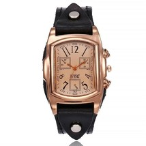 Women Watch Luxury Ladies Fashion Vintage Big Dial Leather Waterproof Wr... - $25.99