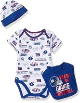 NFL New York Giants Bodysuit Cap Bib Set Size 3-6 Month Gerber - $21.99