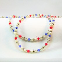 Red, White, and Blue Glass Pearl Eyeglass Chain - $22.88