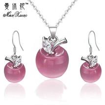 Manxiuni Jewelry Sets For Women Luxury Wedding Bridal Rhinestone Gem Jewelry Set - $13.01