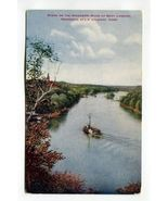 Scene on the Mississippi River at Boat Landing Minnesota State Soldiers ... - $4.99