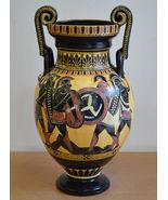 Achilles Hector Menelaos Paris -Trojan War Theme - Amphora Vase - Museum Replica - $499.00