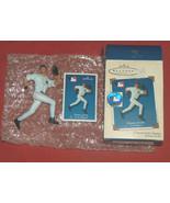 "2002 Derek Jeter New York Yankees 4.5"" Hallmark XMAS Ornament Figure w/ ... - $24.73"