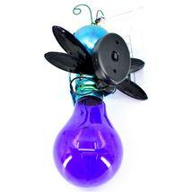 Regal Art & Gift Metal & Glass Firefly Hanging Solar Light Garden Decor image 4