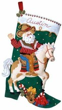 Bucilla 'Cowboy Santa' Christmas Stocking Stitchery Kit, 85468 - $25.99
