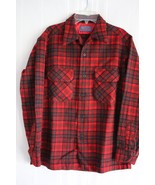 Vintage Pendleton Men's Plaid Loop Collar 100% Virgin Wool Board Shirt s... - $64.34