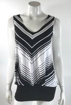 White House Black Womens Top Size XS Diagonal Stripe Layered Sleeveless ... - $24.74