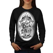 Get Back To Nature Slogan Jumper Pass Joint Women Sweatshirt - $18.99